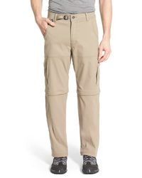 Prana   Brown 'zion' Convertible Cargo Hiking Pants for Men   Lyst
