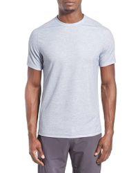 Zella | Gray 'celsian' Moisture Wicking Stripe T-shirt for Men | Lyst