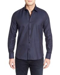 Stone Rose - Blue Trim Fit Sport Shirt for Men - Lyst