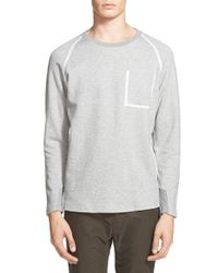 White Mountaineering - Gray Taped Seam Raglan Sweatshirt for Men - Lyst