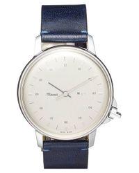 Miansai | Blue 'm12' Leather Strap Watch for Men | Lyst