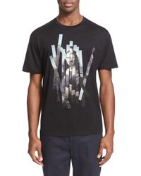 Neil Barrett - Black 'sliced Mona Lisa' Graphic T-shirt for Men - Lyst