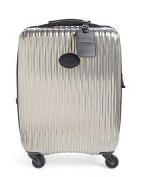 Longchamp   Gray 'fairval' Four-wheeled Hard Shell Suitcase   Lyst