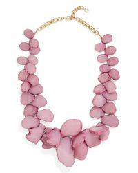 BaubleBar | Pink 'seaglass' Bib Necklace | Lyst