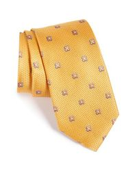 Nordstrom - Yellow Nordstrom 'lovely Neat' Floral Grid Silk Tie for Men - Lyst