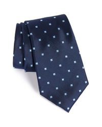 Nordstrom - Blue Nordstrom 'ideal Neat' Dot Silk Tie for Men - Lyst