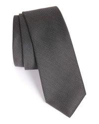 Calibrate - Black Textured Silk & Cotton Tie for Men - Lyst