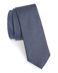 Calibrate - Blue Textured Cotton & Silk Tie for Men - Lyst