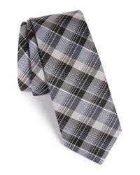 Calibrate - Blue 'college' Plaid Silk Blend Tie for Men - Lyst