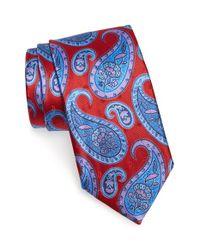 Ermenegildo Zegna - Blue Paisley Silk Tie for Men - Lyst