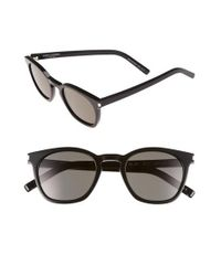 Saint Laurent | Black 49mm Sunglasses | Lyst