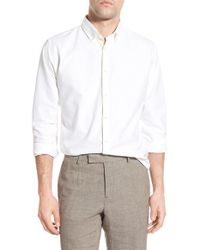 Billy Reid - White Standard Fit Oxford Sport Shirt for Men - Lyst