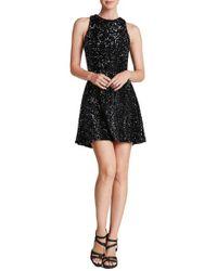 Dress the Population | Black 'mia' Sequin Skater Dress | Lyst