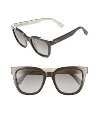 Fendi | Gray 51mm Sunglasses | Lyst