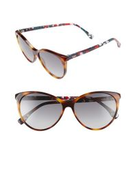 Fendi - Gray 57mm Cat Eye Sunglasses - Dark Havana/ Multi - Lyst