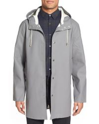Stutterheim | Gray Stockholm Waterproof Hooded Raincoat for Men | Lyst