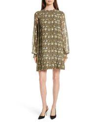 Robert Rodriguez - Multicolor Floral Print Silk Chiffon Dress - Lyst