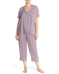 DKNY - Pink Print Woven Capri Pajamas - Lyst