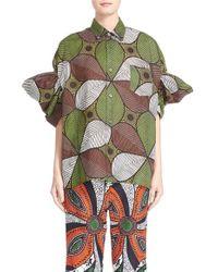 Junya Watanabe | Brown Print Lawn Shirt | Lyst