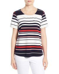 Pleione - Textured Stripe Top - Lyst