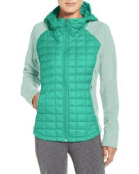 The North Face | Green 'endeavor' Thermoball Primaloft Quilted Jacket | Lyst