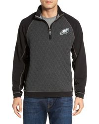 Tommy Bahama - Gray 'nfl Gridiron' Quarter Zip Pullover for Men - Lyst