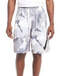Nike | White 'hyperspeed Topo Buzz' Camo Print Dri-fit Athletic Shorts for Men | Lyst