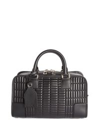 Loewe | Black 'mini Amazona 23' Quilted Leather Satchel | Lyst