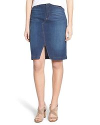 NYDJ - Blue Emma Stretch-Denim Skirt - Lyst