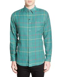 Imperial Motion | Red 'parlay' Plaid Cotton Flannel Shirt for Men | Lyst