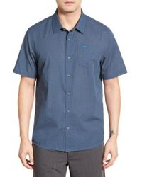 Travis Mathew | Blue Stripe Cotton Jersey Sport Shirt for Men | Lyst