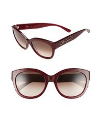 MCM - Red 56mm Retro Sunglasses - Bordeaux - Lyst