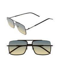 Marc Jacobs | Black 55mm Aviator Sunglasses for Men | Lyst