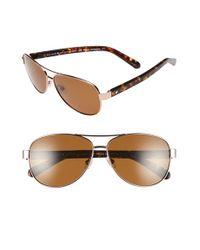 1236223fc62e Lyst - Kate Spade 'dalia' 58mm Aviator Sunglasses in Metallic