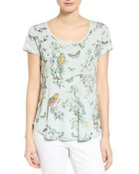 Lucky Brand | Multicolor 'crazy Parrot' Print Scoop Neck Tee | Lyst