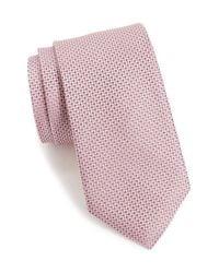Calibrate - Pink 'union Square' Micro Texture Silk Tie for Men - Lyst