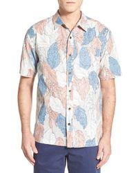 Jack O'neill - White 'aquatic' Regular Fit Print Linen & Cotton Sport Shirt for Men - Lyst