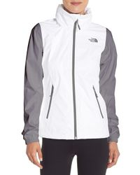 The North Face | White 'resolve Plus' Waterproof Jacket | Lyst