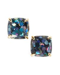 kate spade new york - Metallic Mini Small Square Stud Earrings - Lyst
