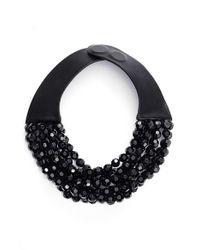 Fairchild Baldwin | Black Bella Beaded Collar Necklace | Lyst