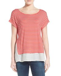 Bobeau - Layered Look Stripe Top - Lyst