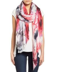 Lily and Lionel - Multicolor 'lyra' Floral Print Modal & Silk Scarf - Lyst