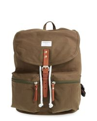 Sandqvist - Natural 'roald' Canvas Backpack - Lyst