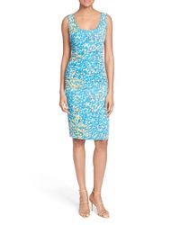 Tracy Reese - Blue 't' Print Stretch Silk Dress - Lyst