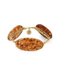 Bourbon and Boweties - Brown Stone Bracelet - Lyst