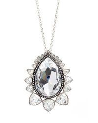 St. John - Metallic Swarovski Crystal Pendant Necklace - Lyst