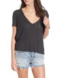 Project Social T | Black Ribbed Tee | Lyst