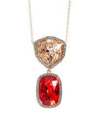 St. John - Red Swarovski Crystal Multi Pendant Necklace - Lyst