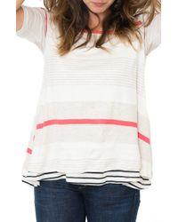 Nom Maternity - White Short-sleeve Nursing/maternity Top - Lyst