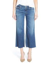 Hudson Jeans | Blue 'sammi' Crop Wide Leg Jeans | Lyst